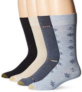 Gold Toe Men's Nautical Anchors Crew 4-Pack Sock