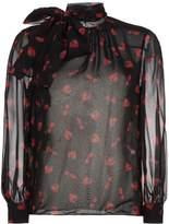 Miu Miu berry print silk blouse