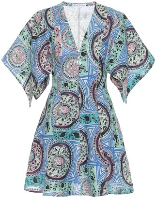 J.W.Anderson Printed linen minidress