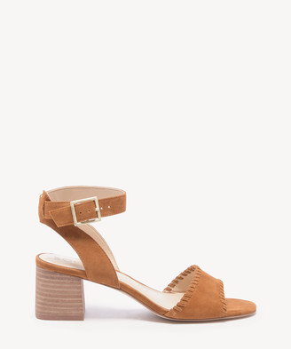Sole Society Women's Sylie Whipstitch Sandals Cassia Size 5 Suede From