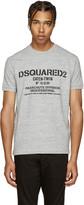 DSQUARED2 Grey Parachute Logo T-Shirt