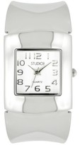 Studio Time Women's Studio Time® Bangle Watch - White