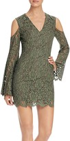 Keepsake Porcelain Lace Cold Shoulder Dress