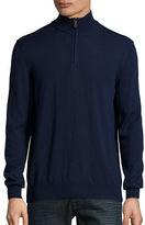 Black Brown 1826 Quarter-Zip Wool Sweater