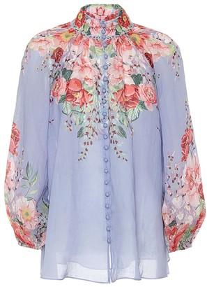 Zimmermann Bellitude floral ramie blouse
