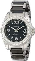August Steiner Women's AS8036BK Quartz Crystal Ceramic Bracelet Watch