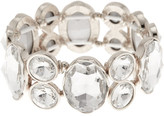 Natasha Accessories Oval & Round Crystal Stretch Bracelet