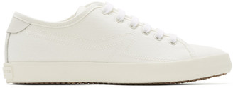 Rag & Bone White Canvas Court Sneakers
