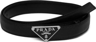 Prada Triangular Logo Plaque Belt