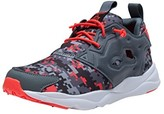Reebok V70599: FuryLite Graphic Jr. Alloy/Red Casual Running Unisex Youth/Adult (5 M US Big Kid)
