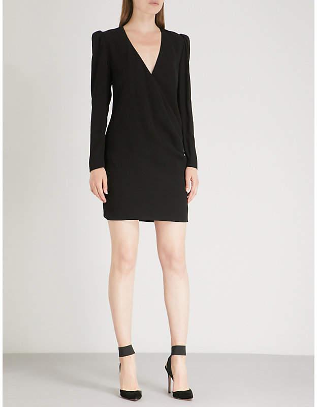 Givenchy Brooch-embellished crepe mini dress