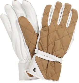 Bogner Cindy leather-trimmed ski gloves