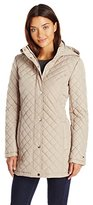 Tommy Hilfiger Women's Long Quilted Jacket with Hood