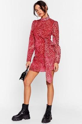 Nasty Gal Womens Wild About It Leopard Mini Dress - Pink - 12