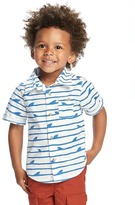 Old Navy Printed Rolled-Cuff Poplin Shirt for Toddler