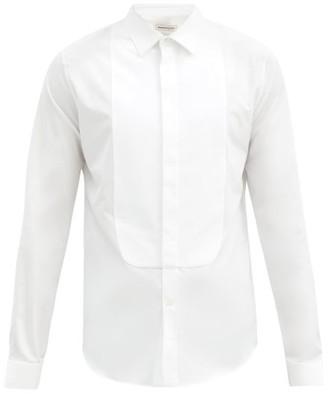 Alexander McQueen Spread-collar Cotton-poplin Tuxedo Shirt - White