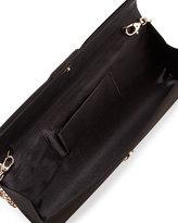 Gianfranco Ferre GF Pleated Satin Pochette Clutch Bag, Black