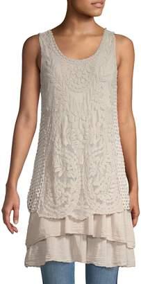 Le Marais Floral Lace Mini Dress