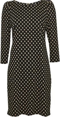 Wallis Black Polka Dot Puff Sleeve Dress