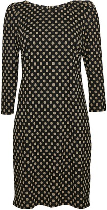 Wallis Black Polka Dot Puff Sleeve Dress