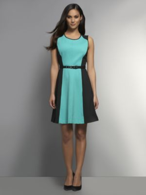 New York & Co. CityKnit Collection Colorblock Sheath