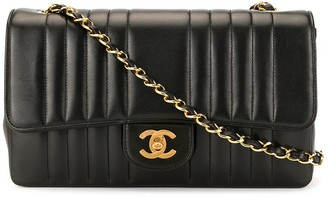 Chanel Pre Owned Mademoiselle stitched shoulder bag