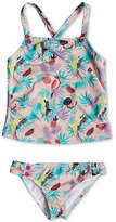 Roxy 2-Pc. Tropical Parrots Tankini Swimsuit, Toddler Girls