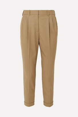Nili Lotan Montana Wool-blend Tapered Pants - Beige