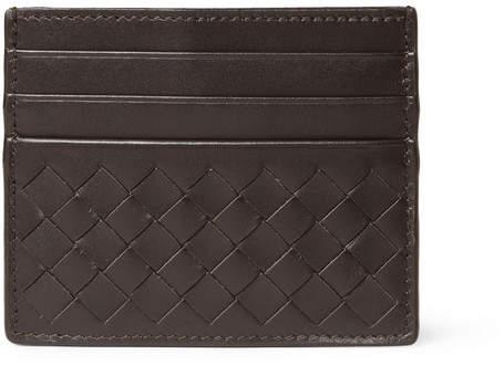 Bottega Veneta Intrecciato Woven Leather Cardholder