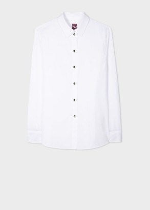 Paul Smith Women's White Shirt With 'Green Apple' Buttons