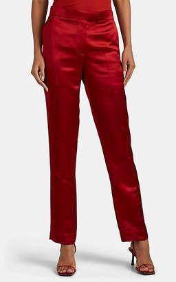 Helmut Lang Women's Satin Straight Trousers - Red