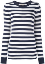 MICHAEL Michael Kors striped jumper - women - Spandex/Elastane/Viscose - XL