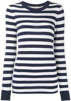 MICHAEL Michael Kors striped jumper - women - Spandex/Elastane/Viscose - XL