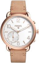 FTW1129 Q Tailor Tan Leather Hybrid Smartwatch
