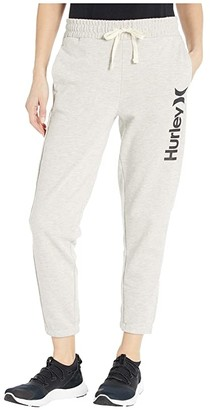 Hurley One and Only Fleece Joggers (Grey Heather/Black) Women's Casual Pants