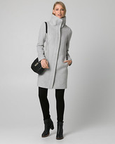 Le Château Wool Blend Funnel Neck Coat