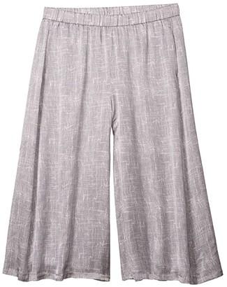 Eileen Fisher Culotte Cropped Pants (Light Zinc) Women's Casual Pants
