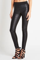 BCBGeneration Faux-Leather Blocked Legging - Black
