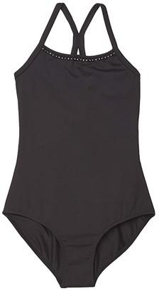 Bloch Wide Strap Camisole Leotard (Little Kids/Big Kids) (Black) Girl's Jumpsuit & Rompers One Piece