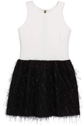 Fly London Zoe Girl's Metallic Bubble Skirt Dress, Size 4-6X