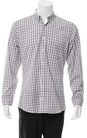 Gucci Web Print Button-Up Shirt