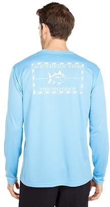 Southern Tide Original Skipjack Performance Tee (Heritage Blue) Men's Clothing