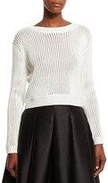 Sachin + Babi Long-Sleeve Ribbed Sweater, Ivory
