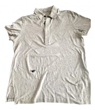 Christian Dior Grey Cotton Polo shirts