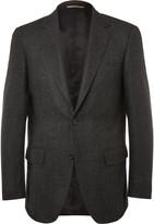 Canali - Charcoal Slim-fit Herringbone Wool And Cashmere-blend Blazer