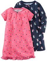 Carter's Girls 4-14 2-pk. Heart Pattern & Ballerina Mouse Nightgowns