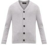 Iris von Arnim Morice Ribbed Cashmere Cardigan - Mens - Grey