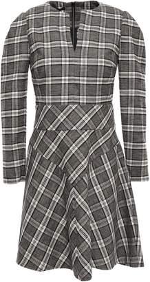Maje Checked Flannel Mini Dress