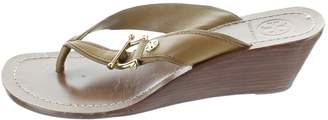 Tory Burch Brown Leather Mules & Clogs
