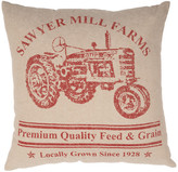 Vhc Brands Sawyer Mill Red Tractor Pillow 18x18